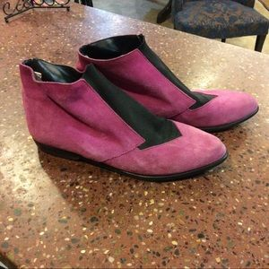 Pink Leather Booties!